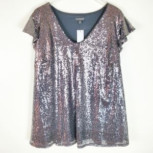 Lane Bryant Sequined Blouse Size 24W